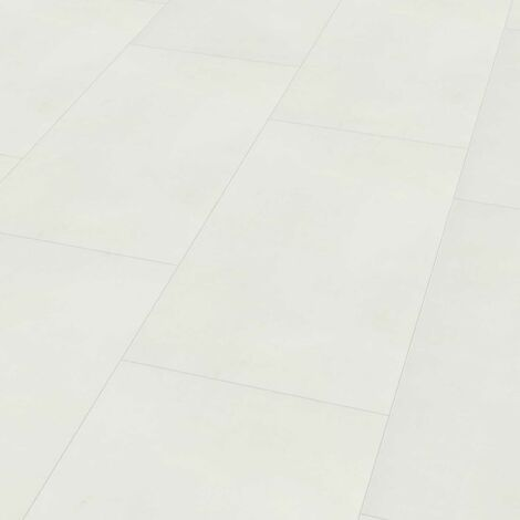 "Wineo 800 Tile XL | Dalle PVC à coller ""Solid White"" - 45,72 x 91,44 cm"