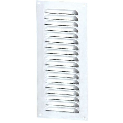 Winflex - Grille d'aération 100x300mm aluminium blanc avec écran anti-insecte