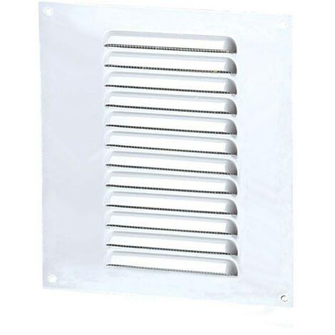 Winflex - Grille d'aération 150x200mm aluminium blanc avec écran anti-insecte