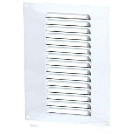 Winflex - Grille d\'aération 150x250mm aluminium blanc avec écran anti-insecte