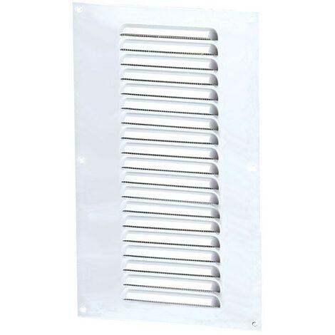 Winflex - Grille d\'aération 150x300mm aluminium blanc avec écran anti-insecte