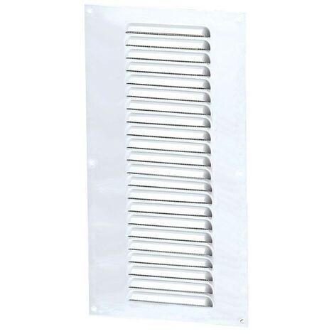 Winflex - Grille d'aération 150x350mm aluminium blanc avec écran anti-insecte