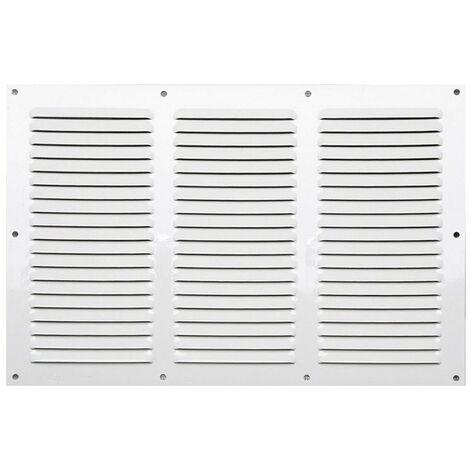 Winflex - Grille d'aération 300x100 aluminium blanc 3 rangées avec écran anti-insecte