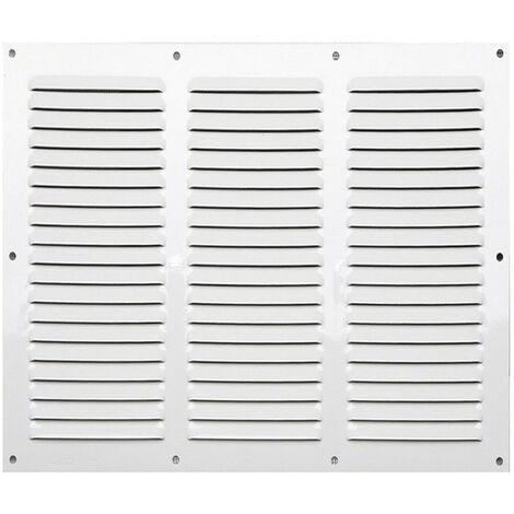 Winflex - Grille d'aération 300x250mm aluminium blanc 3 rangées avec écran anti-insecte