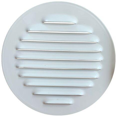 Winflex - Grille d'aération ronde ø100mm acier blanc avec écran anti-insecte