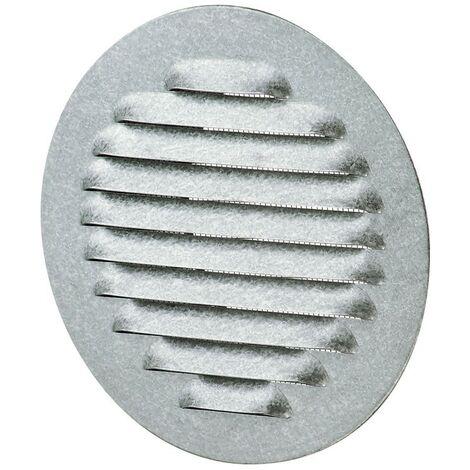 Winflex - Grille d'aération ronde ø142mm aluminium avec écran anti-insecte