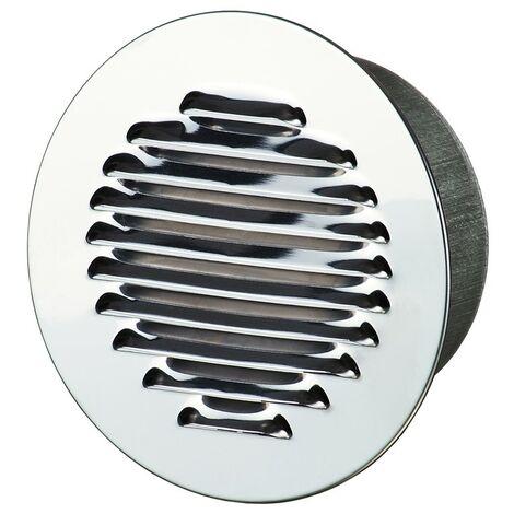 Winflex - Grille d\'aération ronde ø150mm aluminium avec écran anti-insecte
