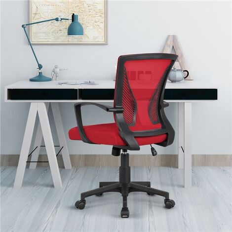 Wing Back Desk Chair Executive Computer Office Chair Red