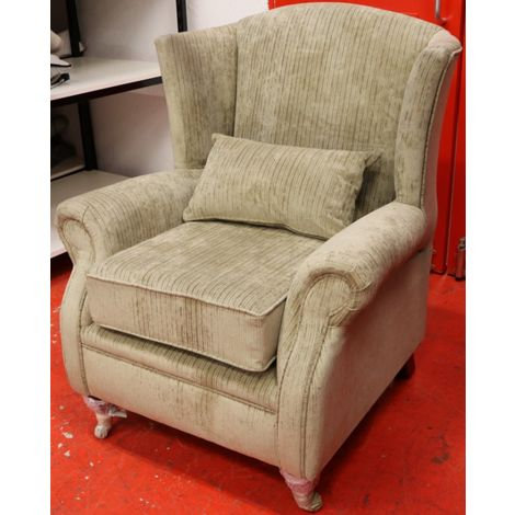 Wing Chair Fireside High Back Armchair Azzuro Mink Fabric