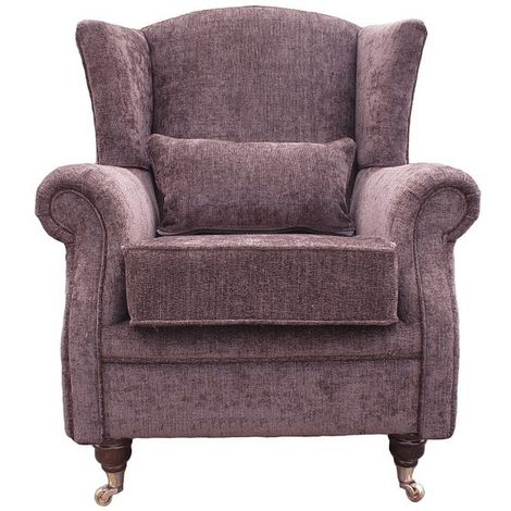 Wing Chair Fireside High Back Armchair Tango Crush Brown Coffee