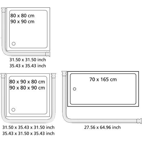 Winkel Duschstange Duscharmatur Regendusche Brausegarnitur Duschvorhangstange