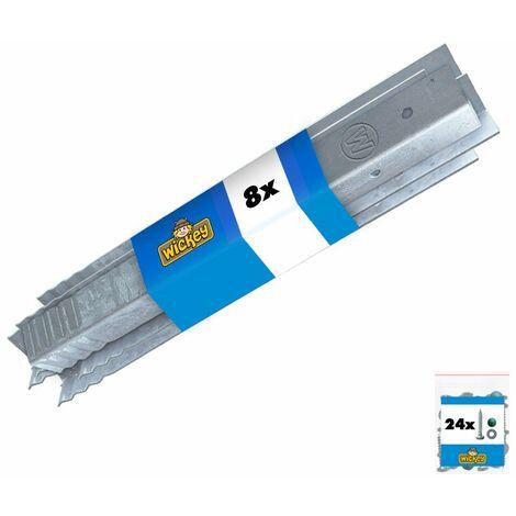 Winkelanker-Set 8 Stück für Spielturm und Schaukel, feuerverzinkt, 500 x 45 x 45mm