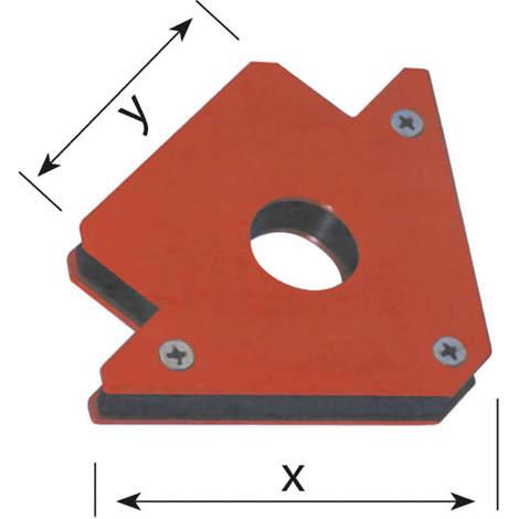 Winkelmagnet Werkstückhalter Winkelmagnet Schweißmagnet Montagehilfe - Größe:85 x 78 mm