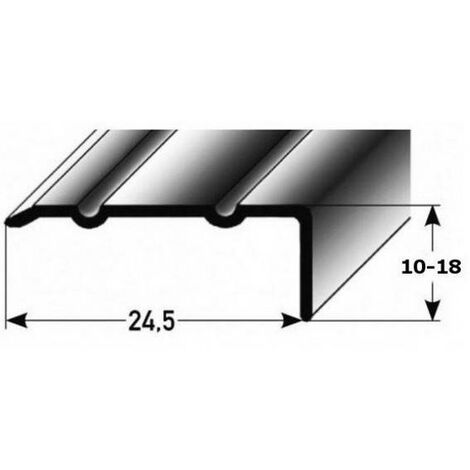 "Winkelprofil ""Salerno"" / Winkelprofil 24,5 mm Typ: 88/89 (Aluminium eloxiert, gebohrt oder selbstklebend)"