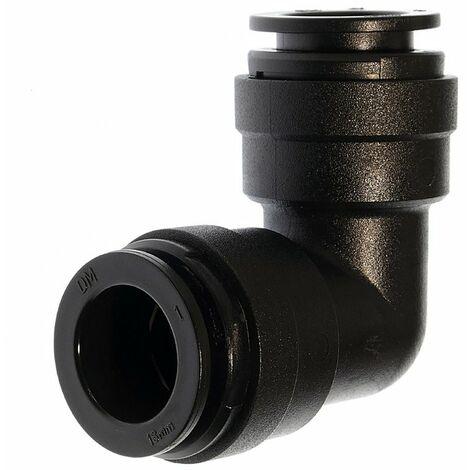 Winkelsteckverbinder WSK 15, Ø 15 mm, Schwarz, Kunststoff