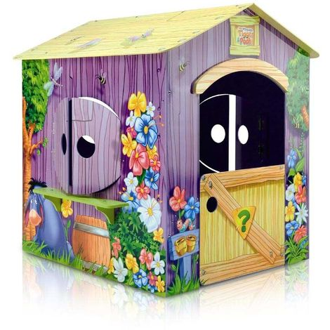 Winnie the Pooh Wooden Playhouse for Children for Indoors and Outdoors