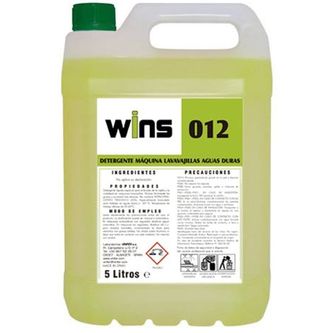 WINS Detergente máquinas lavavajillas aguas duras Wins 012