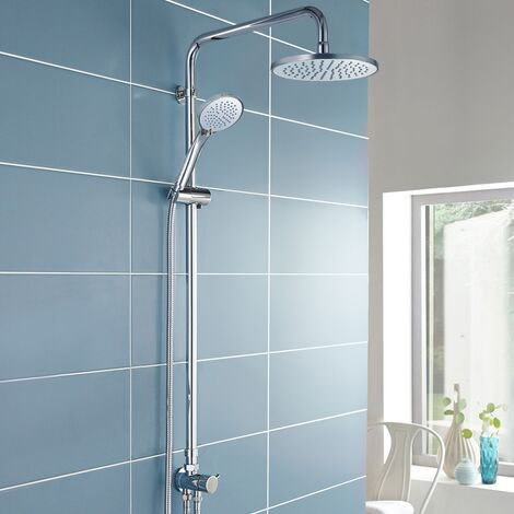 "main image of ""Winstead Round Exposed Multi Function Shower Set - Riser Rail Kit & Bath Shower Mixer Tap"""