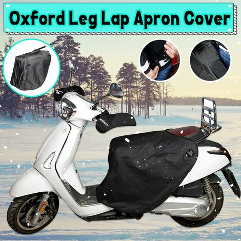 Winter Motorcycle Scooter Leg Cover Apron Fleece Lined Water Resistant Leg Warming Protector, Knee Warm Quilt