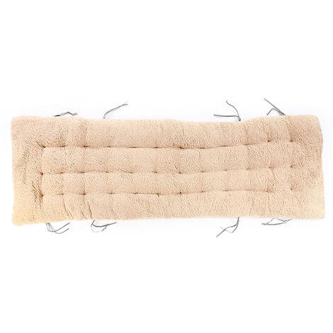 Winter Recliner Cushion Office Non Slip Cotton Chair Cushion Light Brown 160x50x12cm