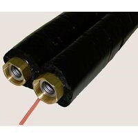 Wip FLEX TWIN V13 Flexibles Edelstahlwellrohr 15m DN 20 4 x 1''Überwurf isoliert mit Fühlerkabel
