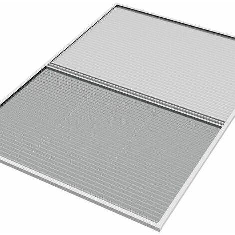 WIP moustiquaire et pare-soleil en plissé pour fenêtre de toit 113x160cm blanc