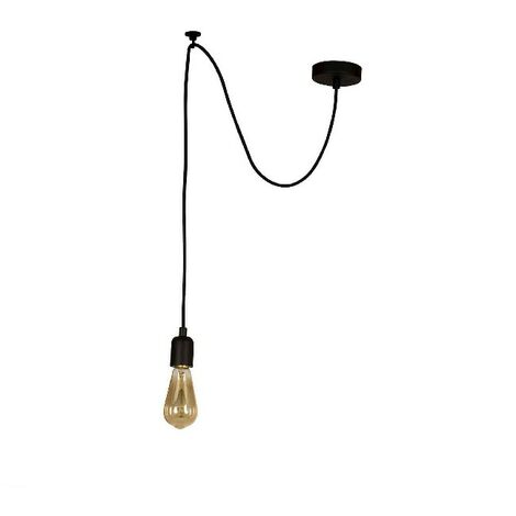 Wire Hanging Lamp - Chandelier - Ceiling Lamp - Black made of Metal, Electrostatic Paint, 90 x 90 x 93 cm, 1 x E27, Max 100W