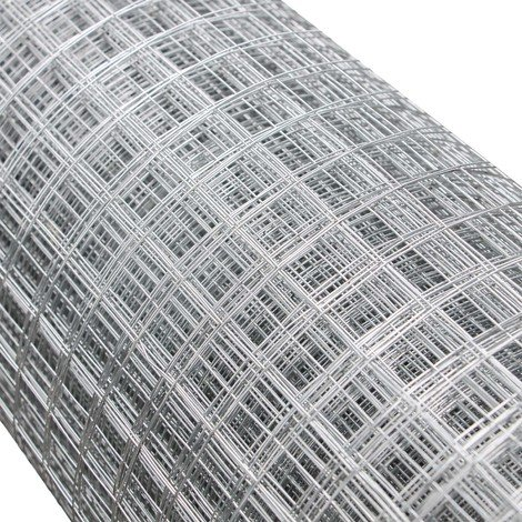Wire Mesh Aviary Fencing Enclosure Galvanised Welded 1mx25m 16x16mm Hole Size Chicken Rabbit