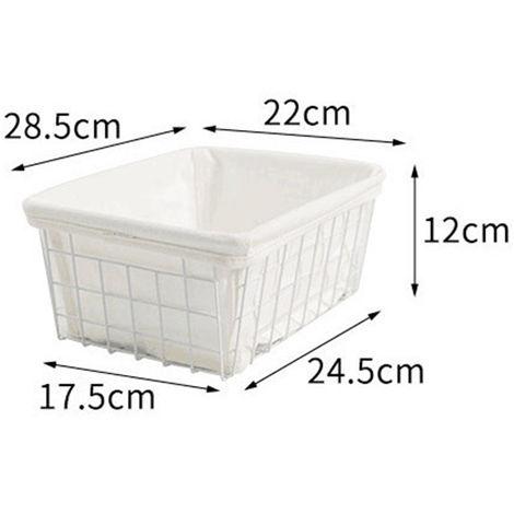 Wire Storage Basket Office Sundries Book Organizer Basket With / Liner
