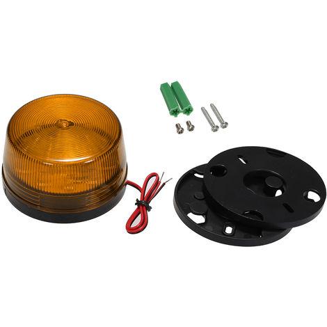 """main image of """"Wired Alarm Strobe Signal Safety Warning LED Light Orange"""""""
