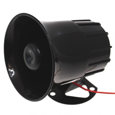 Wired Siren (118 Decibel) for use with many Alarm Systems. [004-0240]