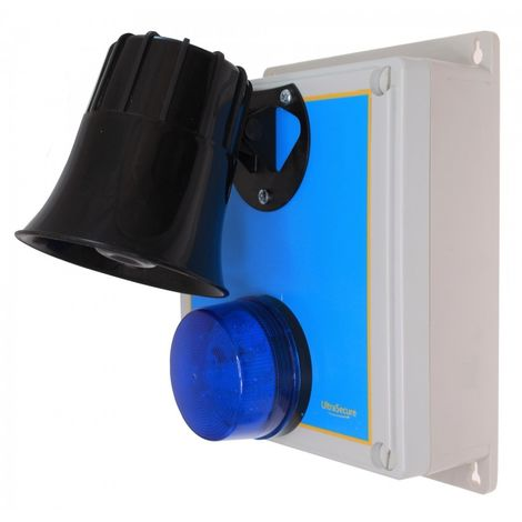 Wireless Alarm 'S' Type Siren Control Panel with Latching 118 Decibel Siren & Blue Flashing LED