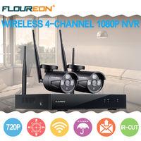 Wireless CCTV 1080P 4CH NVR WiFi IP Camera Security System DVR Kit IP66 IR Night