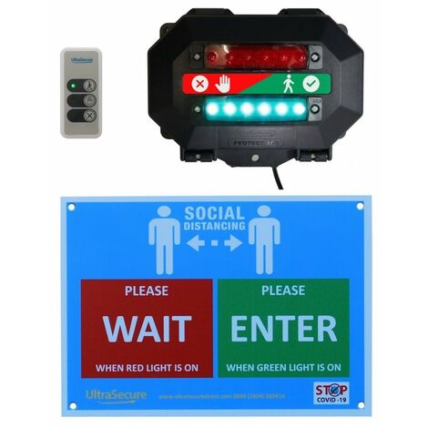 Wireless Customer Entry Traffic Light B with Intelligent Portable Controller [009-4730]