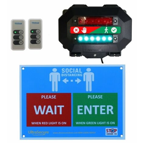 Wireless Customer Entry Traffic Light Kit C with 2 x Intelligent Portable Controllers [009-4740]