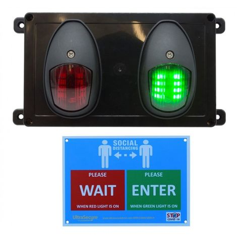 Wireless Door Entry Traffic Lighting Control System 2 with Wall Sign [009-4580]
