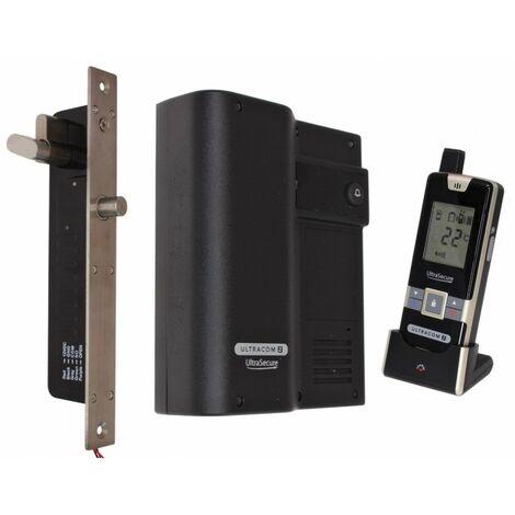 Wireless Door Intercom (UltraCom2) Black Caller Stn with Electronic Door Lock [006-2750]