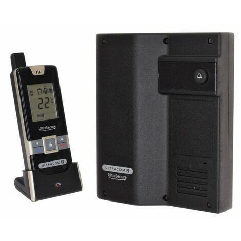 Wireless Door Intercom (UltraCom2 No keypad) Black Caller Station [006-1480]