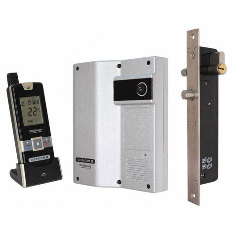 Wireless Door Intercom (UltraCom2) Silver Caller Stn with Electronic Door Lock [006-2710]