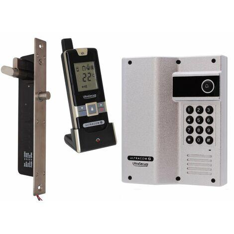 Wireless Door Intercom with Keypad (UltraCom2) Silver Caller Stn with Electronic Door Lock [006-4170]