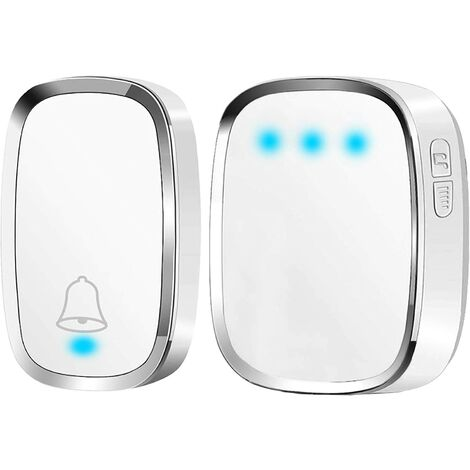 """main image of """"Wireless doorbell, waterproof doorbell 300 meters from reach, wireless carillon with 1 transmitter and 1 plug-in receiver and 36 ringtones 4 level volumes for home, office, shop"""""""