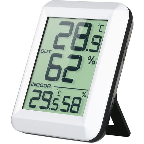 Wireless electronic thermometer and hygrometer