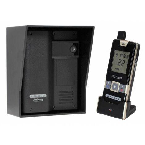 Wireless Gate & Door Intercom (UltraCom2 No keypad) Black with Black Hood [006-2620]