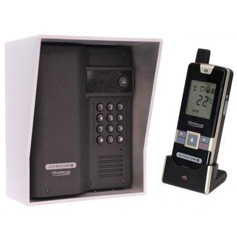 Wireless Gate & Door Intercom with Keypad (UltraCom2) Black & Silver Hood [006-4090]