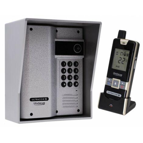Wireless Gate & Door Intercom with Keypad (UltraCom2) Silver & Silver Hood [006-4070]