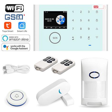 Wireless Home Security GSM WiFi Alarm System Kit Remote Control App Kit