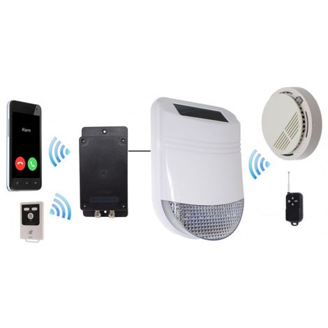 Wireless HY Solar Siren Smoke Alarm with Battery GSM Dialler