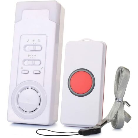 Wireless intelligent personal alarm system with call button, doorbell, nurse alert system, 1m operating range (1 in 1)