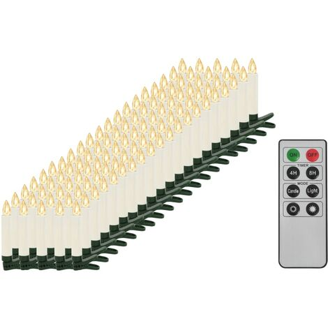 Wireless LED Candles with Remote Control 100 pcs Warm White