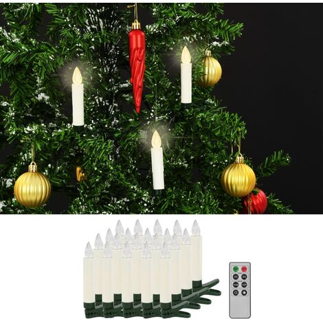 Wireless LED Candles with Remote Control 20 pcs Warm White